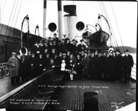 "C.P.R. passenger traffic officials on board ""Princess Patricia"""