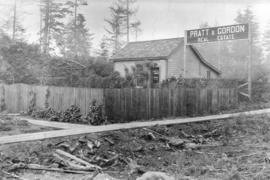 [The Pratt and Gordon Real Estate office at the corner of 3rd Avenue and Trutch Street]