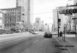 Burrard [Street] and Helmcken [Street looking] north