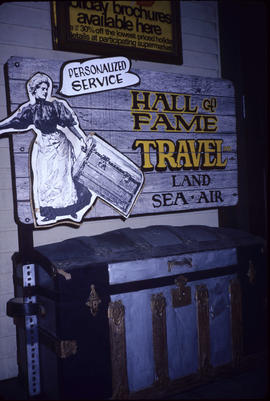 Hall of Fame Travel sign at Grocery Hall of Fame