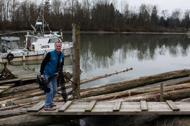 Torch relay cameraman by the Fraser river [3 of 3]