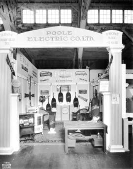 Poole Electric Co. display of Eureka vacuum cleaners