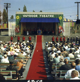 1967 P.N.E. opening ceremonies on Outdoor Theatre stage