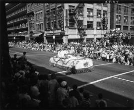 City of New Westminster float in 1957 P.N.E. Opening Day Parade