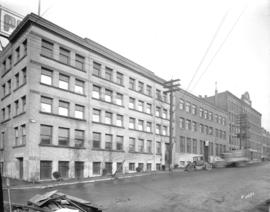 [Liquor Control Board warehouse at Smithe and Beatty Streets]