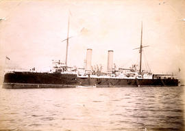 H.M.S. Royal Arthur in harbor at Vancouver, B.C.