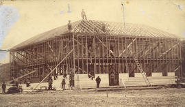 [The Lambley Brothers' (Enderby) Hotel under construction]