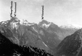 [View of Mount George Edwards, Mount Tinniswood and Mount Casement from Mount Victoria]