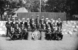 [Group portrait of Prince Rupert Division Sea Cadets class at Whytecliffe]
