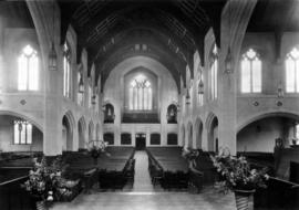 [Interior of St. Andrew's-Wesley United Church on Burrard Street at Nelson Street]