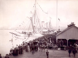Arrival of C.P.R. Str. [steamer] Empress of India at Vancouver, B.C., April 28th, 1891