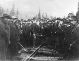 Gold Range Views - Driving the Golden Spike, by Hon. D.A. Smith, on C.P.R.