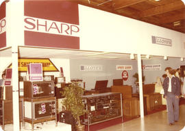Television and stereo retailer display booth