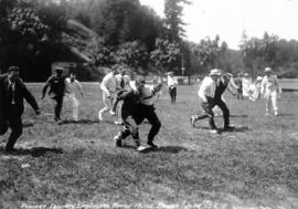 Pioneer Laundry Employees' Annual Picnic [Three-legged Race]