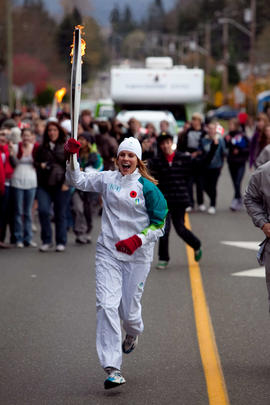 Day 004, torchbearer no. 104, Heather Corra - Comox