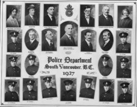 Police Department, South Vancouver B.C. 1927