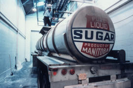 Manitoba Sugar Co. tanker being loaded or unloaded