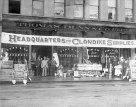 Clondike [Klondike] supplies at Thomas Dunn & Co. Ltd., Cordova Street