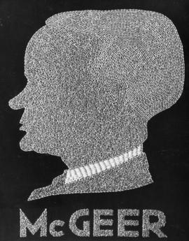 His Worship G.G. McGeer, K.C., M.P. Mayor of Vancouver, 1935-1936 [silhouette in wheat]