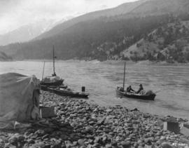 [Seymour Gorge in North Vancouver during the filming of Frank Lloyd's production of Rex Beac...
