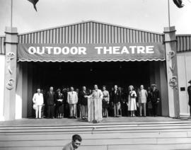 Lord Alexander speaking at opening ceremony of P.N.E. at Outdoor Theatre