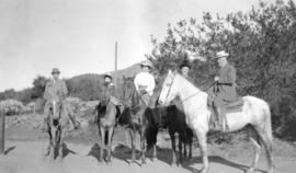 Colonel Hart McHarg, Mrs. W. Murray, W.M. Murray and others riding horses