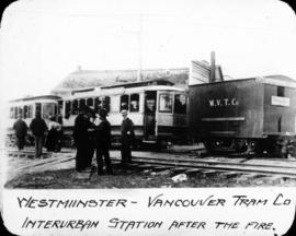 Westminster-Vancouver Tram Company - Interurban Station After the Fire
