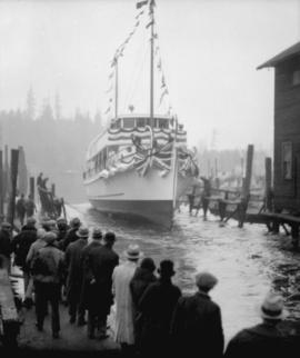 "Boeing Aircraft Co. of Canada, yacht launching [""Cora Marie""]"