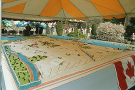 20 foot by 24 foot cake for Centennial birthday celebration at Stanley Park