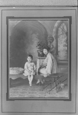 Lillian Ho's sister Winnifred Eng and one of her children