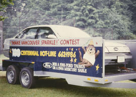 Make Vancouver Sparkle grand prize Ford car in trailer