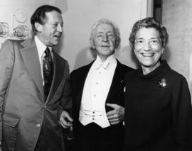 Hugh Pickett, Arthur Rubinstein and Pat Prowd