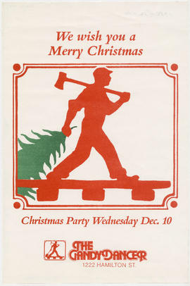 We wish you a merry Christmas : Christmas party Wednesday Dec. 10 : The Gandydancer, 1222 Hamilto...