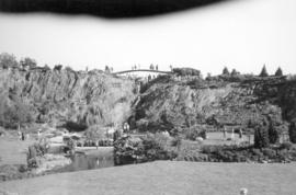 [View of the sunken gardens developed in the old quarry at Queen Elizabeth Park]