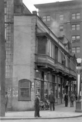 [Exterior of the Sam Kee Building - 8 West Pender Street]