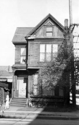 [Exterior of residence in the 300 block Gore Avenue]