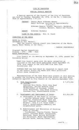 Special Council Meeting Minutes : Sept. 24, 1974
