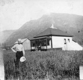 [Roderick Campbell in a field near his house]