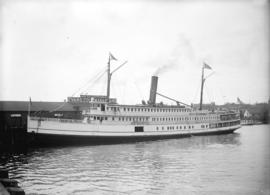 "[The ferry ""City of Seattle"" at the Evans, Coleman and Evans dock]"