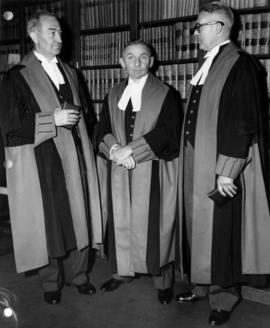 Justice J.G. Ruttan, Chief Justice Sherwood Lett, and Justice T.W. Brown