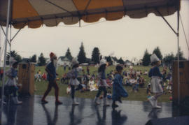 Children performing on Chevron Stage