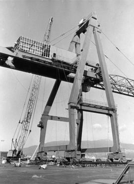 Port of Vancouver's first loading crane