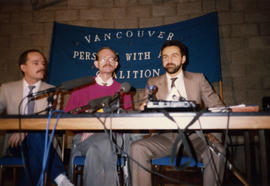 PWA Coalition members Greg Layne and Kevin Brown and lawyer Dennis Dahl announce suit against BC ...