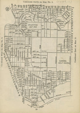Sectional map and street directory of Vancouver : [Ontario Street to King Edward Avenue to East B...