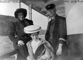 Cadet: Nelson, Mr. Hopkins [and unidentified woman on a boat]