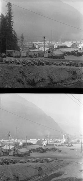 [Two views of a town in Alaska]