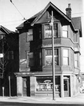 [Exterior of building at the North East corner of Nelson and Howe Street]