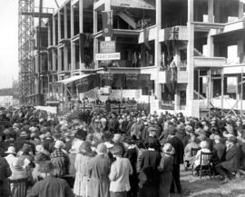[Cornerstone ceremony for the Science Building at the University of British Columbia]