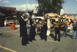 Brass band on grounds