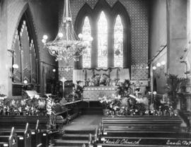 [The chancel of] Christ Church [decorated for] Easter